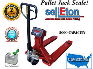 New Industrial Warehouse Truck Pallet Jack Scale With 5000 Lb Capacity X 1 Lb