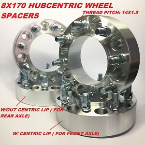 4pc 8x170 Hub Centric Wheel Spacers 2 Inch 50mm Ford Superduty