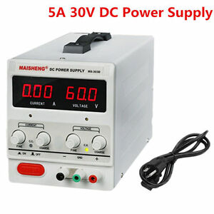 30v 5a Precision Variable Dc Power Supply Digital Adjustable Regulated Lab 110v