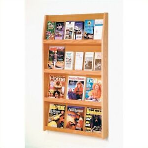 Wooden Mallet Literature Holder In Light Oak Rack And Sorters