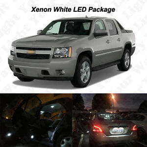 14x White Led Interior Bulbs Fog Reverse Tag Light For 2007 2013 Chevy Avalanche