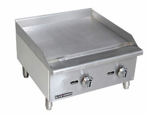 Stainless Steel Standard Series Gas Griddle 24