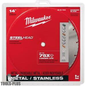 Milwaukee 49 93 7840 14 Steelhead Diamond Metal Cut off Blade 5500rpm New