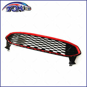 Front Bumper Upper Grille Mustang Red Honeycomb Style Fit Ford Fusion 2013 2016