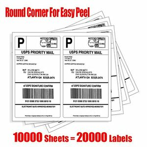 20000 Half Sheet 8 5 X 11 Shipping Labels Self Adhesive 2 Per Sheet Round Corner