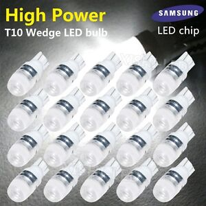 20x Super White High Power T10 Wedge Samsung Led Light Bulbs W5w 192 168 194 12v