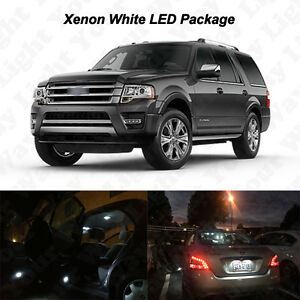 12x White Led Interior Bulbs License Plate Light For 2007 2016 Ford Expedition