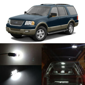 14x White Led Interior Bulbs License Plate Light For 2003 2006 Ford Expedition