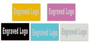 Engraved Tags Metal Name Card 1 100pcs Customized Plate Plaque Label Safety Sign