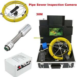 7 Lcd 30m Sewer Camera Pipe Pipeline Drain Video Inspection Snake Cam System