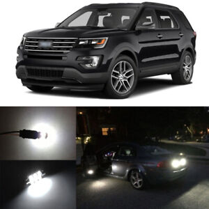 12 X White Led Interior Package Reverse Tag Lights For 2011 2019 Ford Explorer
