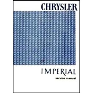 Factory Shop Service Manual For 1966 Chrysler Imperial