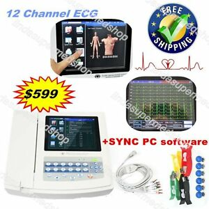 Contec 12 Channel 12 Leads Ecg Machine Electrocardiograph Usa Software Ecg1200g