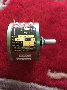 Spectrol Electronics Precision Potentiometer 850 250 New Old Stock