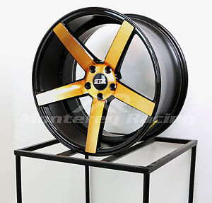 20x9 20x10 5 5x112 Str 607 Black W Copper Mercedes Audi Volkswagon