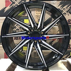 Xxr 561 Wheels 18 20 Black Rims Staggered 5x114 3 Fits 03 08 Nissan 350z Nismo