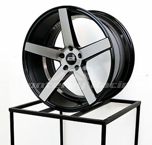 20x10 5 5x110 Str 607 Black Machine Face Saturn Pontiac Chevy