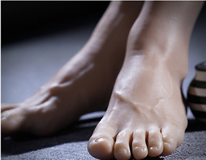 Silicone Lifesize Male Mannequin Foot Display Model Shoes One Stocking Mens T010