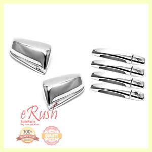For 2013 2014 2015 Chevy Malibu Chrome Side Mirrors Door Handle Covers Combo