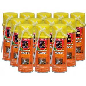 Dow Great Stuff Fireblock Insulating Foam Sealant 12 Oz Case Of 12 Cans