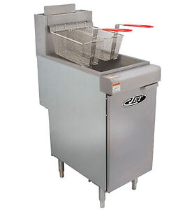 Commercial 40lb 3 Tube Floor Gas Deep Fryer 90 000btu hr Lp Gas Jet Jff3 40l