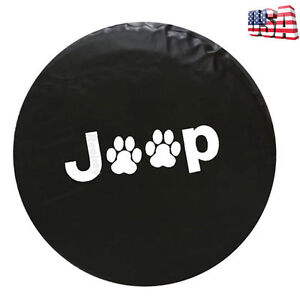 16 Black Spare Wheel Tire Soft Cover 30 31 For Jeep Liberty Cherokee Compass