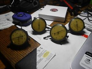 4 Vintage Dial Indicators Made In Usa Federal Products Corporation 0001