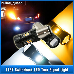 2x 1157 Bay15d Switchback White Amber 3030 16 Led Turn Signal Lights Dual Color