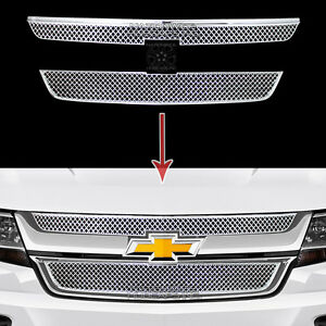 2015 2018 Chevrolet Colorado Chrome Grille Overlays Front Grill Covers Inserts