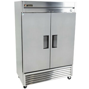 Stainless Steel Reach In Freezer 2 Door 46 5 Cubic Ft