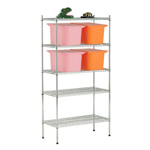 5 Tier 60 x30 x14 Adjustable Wire Shelving Rack Heavy Duty Chrome Steel Shelf