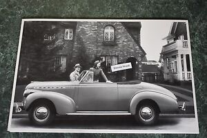 1940 Chevrolet Special Deluxe Convertible Side 12 X 18 Black White Picture