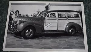 1940 Chevrolet Special Deluxe Panel Station Wagon 12 X 18 Black White Picture