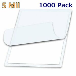 1000 Letter Size Clear Hot Laminator Laminating Pouches 9 X 11 5 Sheets 5 Mil