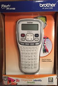 Brother P touch Label Maker With Thermal Printer Model Pt h100 new In Box