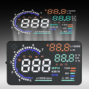 5 5 Car Hud A8 Head Up Display Obd Ii Obd2 Projector Speed Warning System Vp