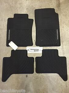 2005 2011 Tacoma Double Cab All Weather Rubber Floor Mats Oem Toyota Accessory