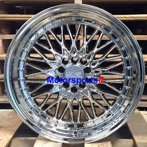 Xxr 536 Wheels 17 X 9 25 Platinum Pvd Deep Lip Rims 5x114 3 18 Honda Accord Ex