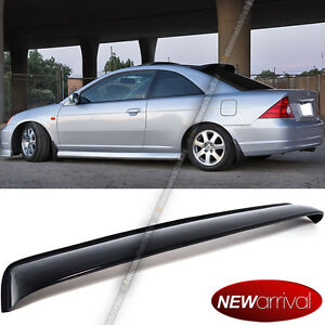 Fit 01 05 Honda Civic 2dr Coupe Acrylic Rear Roof Visor Vent Shade