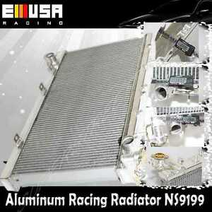 2 2 Raw Aluminum Performance Racing Radiator For 91 99 Nissan Sentra Mt Only