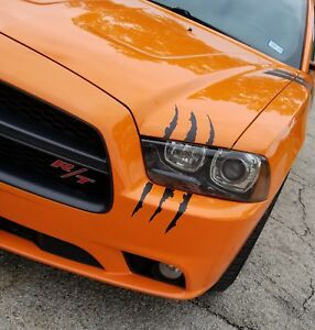 12 Headlight Claw Scar Scratch Monster Stripe Decals Camaro Dodge Charger