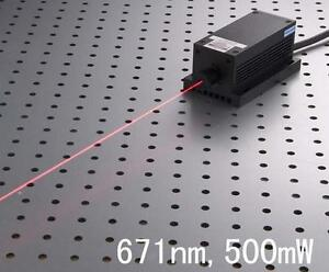 671nm 500mw Red Laser Dot Module Ttl analog Tec Fa Lab Adjustable Power
