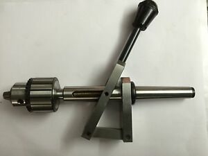 Lathe Tailstock Attachment 3mt Shank For Fine Drilling Purpose Manual Feed
