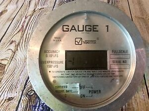 Vaetrix Gauge 1 Digital Pressure Gauge 2 000 Psi Rd