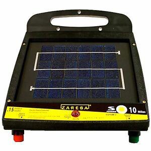 Zareba Outdoor Farms 10 mile Low Impedance Animal Solar Powered Electric Fencer
