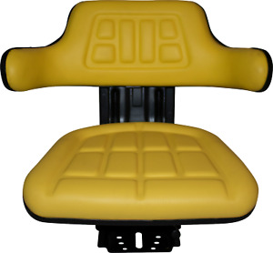 Yellow John Deere 6400 6410 6500 Universal Waffle Tractor Suspension Seat