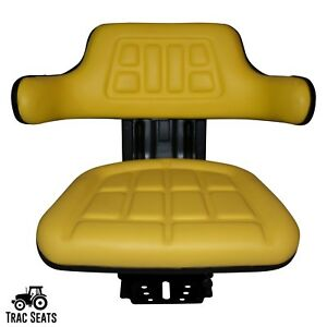 Yellow John Deere 5200 5210 5300 5310 Waffle Style Tractor Suspension Seat