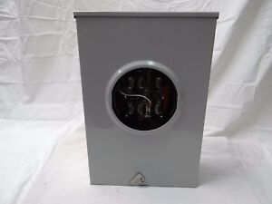 Nos Siemens 40407 9 200a 3ph 4 Wire Nema 3r Commercial Electric Meter Socket Can