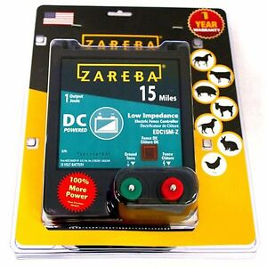 Zareba Farms 15 mile Battery Powered Low Impedance Electric Wire Fence Charger