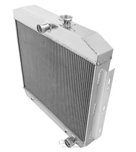 Champion Racing 2 Row Aluminum Radiator For 1955 57 Chevy V8 Cars